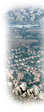 A view of homes in Moreno Valley
