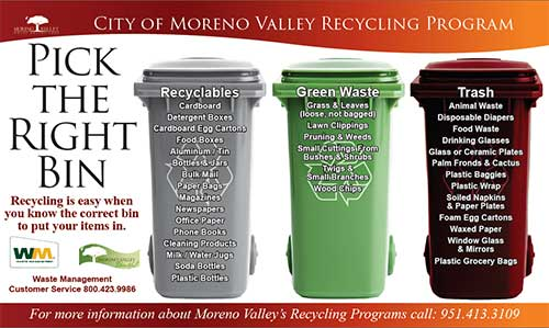 Waste Management Moreno Valley >> Trash and recyclables Collection